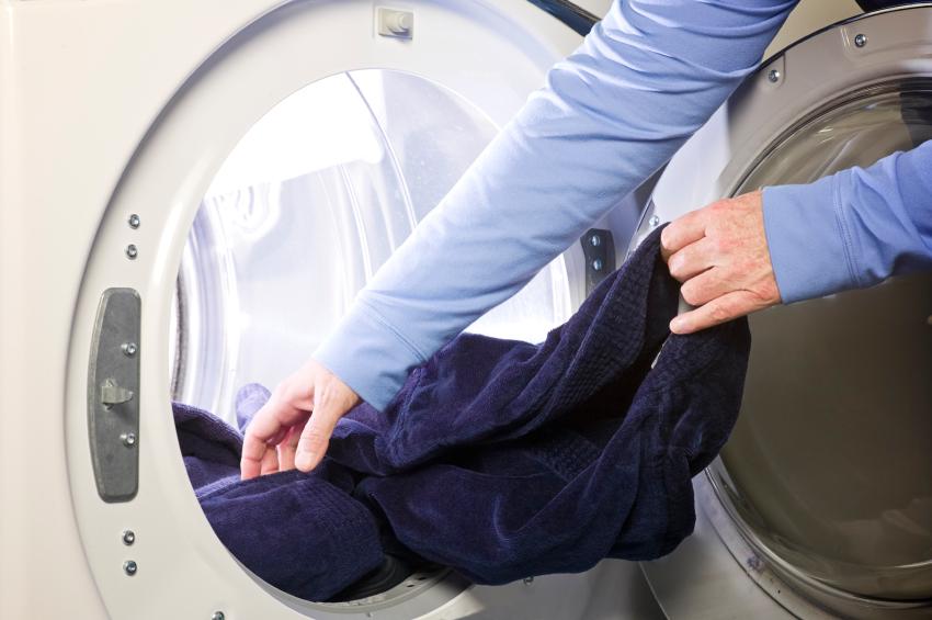 Wäsche im Trockner
